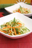 Salad of cucumbers and carrots Stock Photos