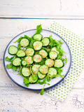 Salad from cucumbers with a linen seed Stock Image