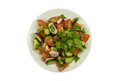 Salad with cucumbers and tomatoes Stock Photo