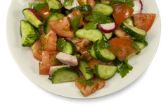 Salad with cucumbers and tomatoes Stock Image