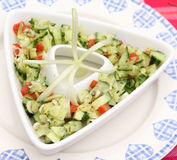 Salad of cucumbers and tomatoes Stock Photos