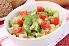 Salad of cucumbers and tomatoes Stock Photo