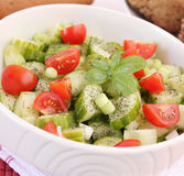 Salad of cucumbers and tomatoes Royalty Free Stock Photos
