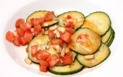 Salad of cucumbers and tomatoes Stock Images
