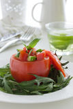 Salad from cucumbers and tomatoes Royalty Free Stock Images