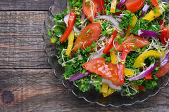 Salad with curly kale royalty free stock photography