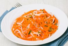 Salad with daikon radish and carrot Stock Images