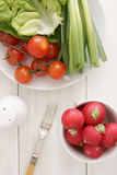 Salad days stock image