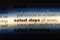 salad days stock photography