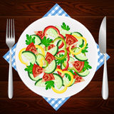 Salad diet tomato cucumber paprika Royalty Free Stock Image