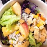 Salad. Diet salad vegetable and fruit Stock Image