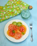 Salad with different colour tomatoes Stock Photography