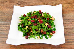 Salad with Dill, Parsley, Cilantro, Walnuts. And Dried Cherries Studio Photo Stock Images