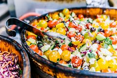 Salad Dish in Container Royalty Free Stock Photos