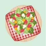Salad dish on picnic n Stock Images