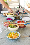 Salad dishes Stock Photo