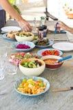 Salad dishes Stock Photo