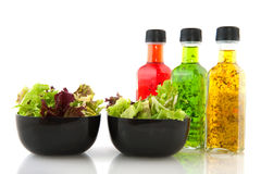 Salad and dressing Royalty Free Stock Photography