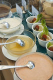 Salad Dressing. Western Style Buffet Different Flavor Salad Dressing Stock Photo