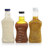 Salad Dressing. Assortment Of Salad Dressing Bottles Stock Image