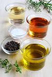 Salad dressing ingredients Stock Image