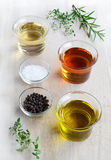 Salad dressing ingredients Royalty Free Stock Image