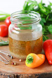 Salad dressing Stock Images
