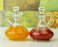Salad dressings Stock Images