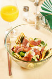 Salad with duck fillet Royalty Free Stock Photography