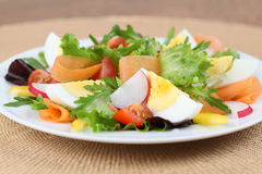 Salad with eggs Royalty Free Stock Photography