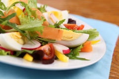 Salad with eggs Stock Images