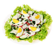 Salad with eggs Stock Photo