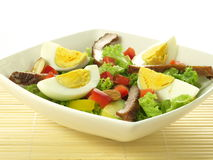 Salad with eggs Stock Photos