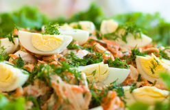 Salad with eggs and carrot Stock Photo