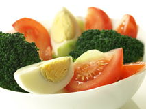 Salad with eggs, closeup Stock Images