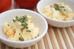 Salad of eggs Royalty Free Stock Image