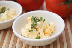 Salad of eggs Royalty Free Stock Images