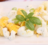 Salad of eggs Royalty Free Stock Photography