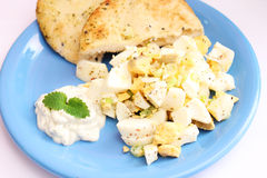 Salad of eggs Stock Images