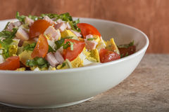 Salad with eggs and ham Royalty Free Stock Photo