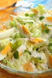 Salad with eggs and yogurt Royalty Free Stock Images