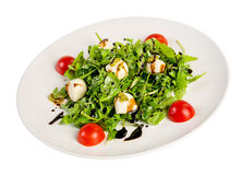 Salad from eruca and cheese Stock Photo