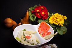 Salad Of Fennel, Pears And White Cheese Royalty Free Stock Photos