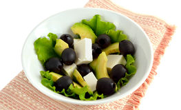 Salad with feta and avocado. Royalty Free Stock Image