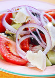 Salad with feta cheese Stock Photo