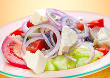 Salad with feta cheese Stock Image