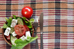 Salad With Feta Cheese Royalty Free Stock Image