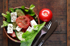 Salad With Feta Cheese Stock Images