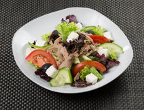 Salad with feta cheese and tuna Royalty Free Stock Image