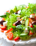 Salad with feta and greek olives Royalty Free Stock Photos